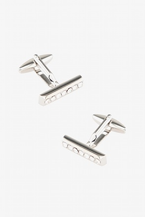 Executive Bar Clear Cufflinks
