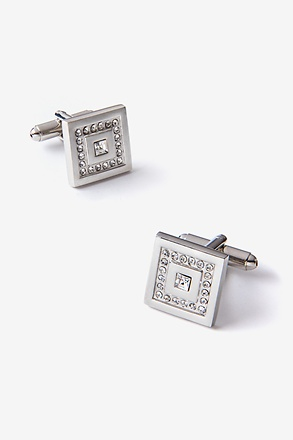 Flashy Square in Square Cufflinks