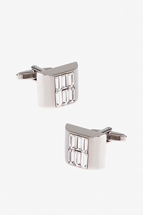 Flashy Thick Square Clear Cufflinks