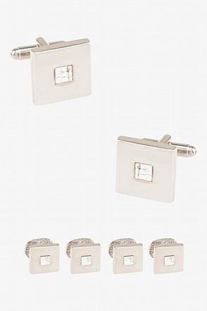 _Front and Center Clear Cufflink & Stud Set_