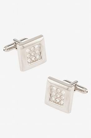 _Jazzy Clear Cufflinks_