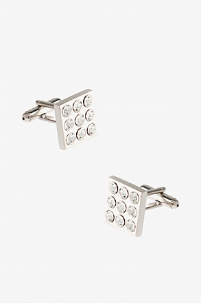 _Mini Vegas Gemstone Clear Cufflinks_