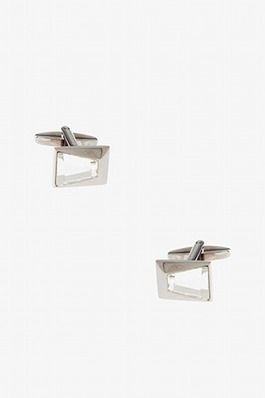_Slanted Rectangular Gem Cufflinks_