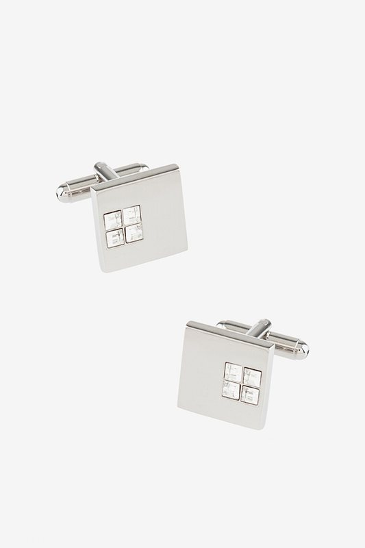 Solid Studded Square Cufflinks Photo (0)