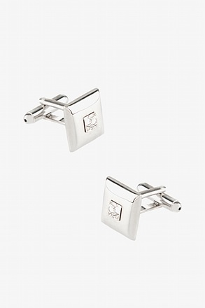 _Thatcher Square Clear Cufflinks_