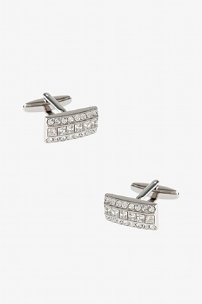 _Very Rhimestone Rectangle Cufflinks_