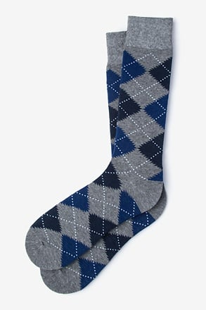 Argyle Assassin Cobalt Sock
