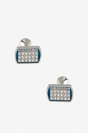 Bejeweled Mirrored Rectangle Cufflinks