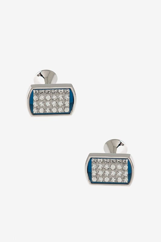 Nice Bejeweled Mirrored Rectangle Cufflinks hot sale