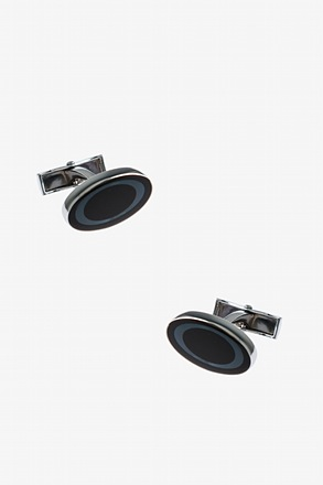 _Circled Oval Cufflinks_