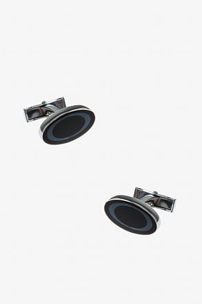 Circled Oval Cufflinks
