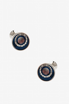 Glitzy Beaded Round Peak Cufflinks