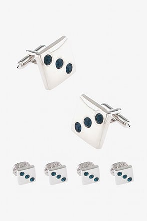 _Three's Cufflink & Stud Set_