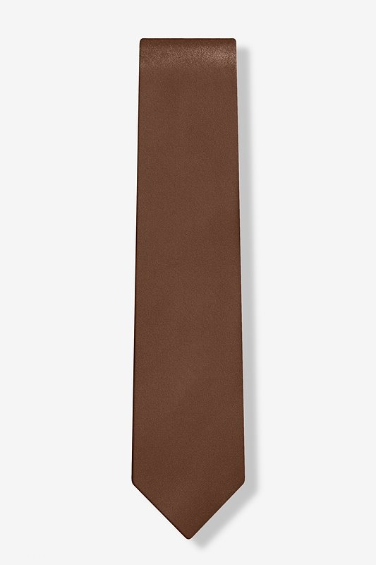 "Cocoa Brown 3"" Skinny Tie Photo (1)"