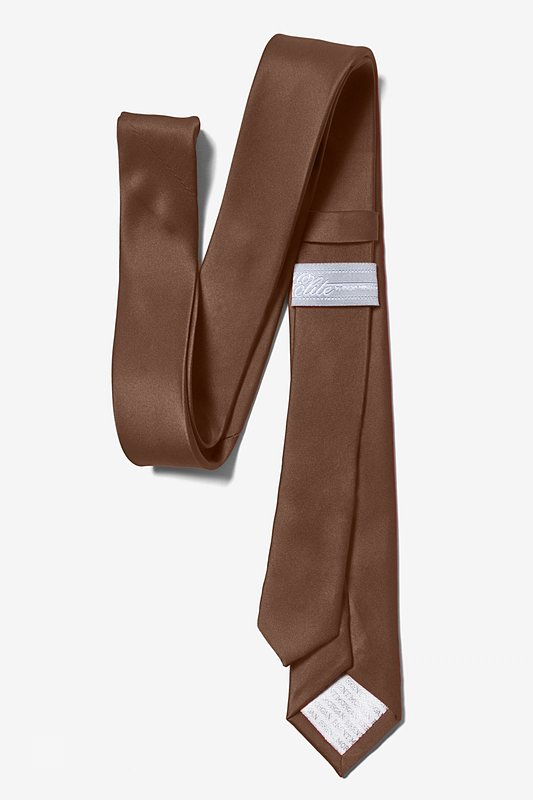 "Cocoa Brown 3"" Skinny Tie Photo (2)"