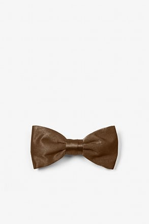 Cocoa Brown Bow Tie For Infants
