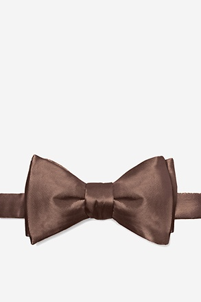Cocoa Brown Butterfly Bow Tie