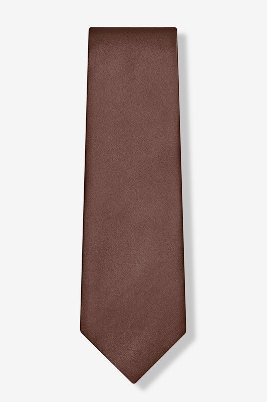 Cocoa Brown Extra Long Tie Photo (1)