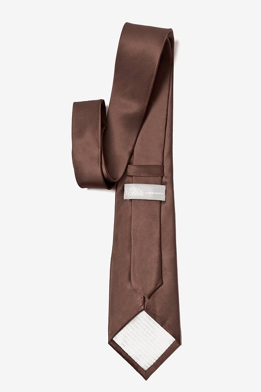 Cocoa Brown Extra Long Tie Photo (2)