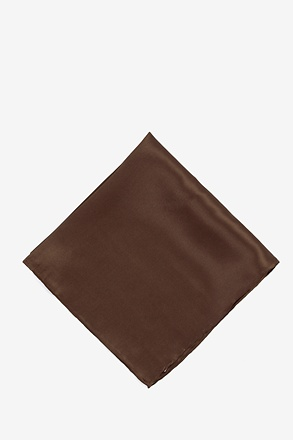 _Cocoa Brown Pocket Square_