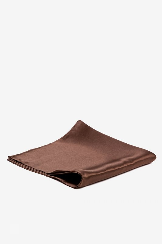 Cocoa Brown Pocket Square Photo (1)