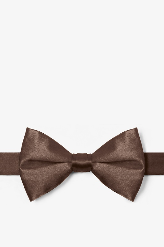 Cocoa Brown Pre-Tied Bow Tie Photo (0)