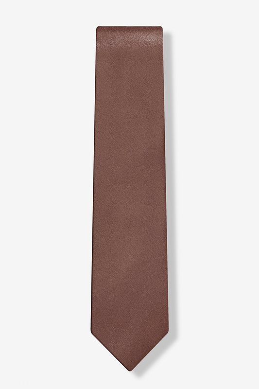 Cocoa Brown Tie For Boys Photo (1)