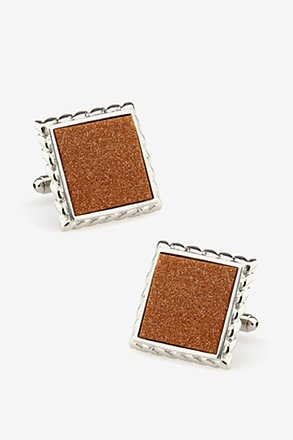 Framed Metalic Cufflinks