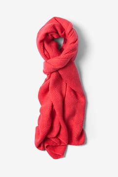 Coral Sheffield Scarf