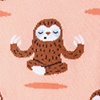 Coral Carded Cotton Don't Hurry Be Happy - Sloths