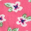 Coral Carded Cotton Garden Grove Floral Sock