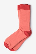 Hollywood Solid Coral Sock Photo (0)