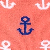 Coral Carded Cotton Mini Anchors Sock