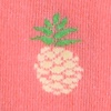 Coral Carded Cotton Pineapples Sock