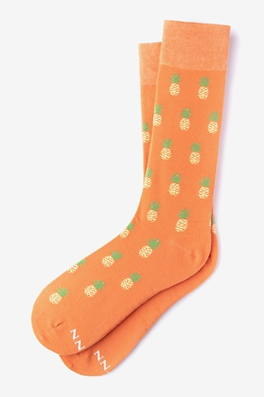 Pineapples Coral Sock