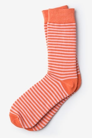 _Seal Beach Stripe Coral Sock_