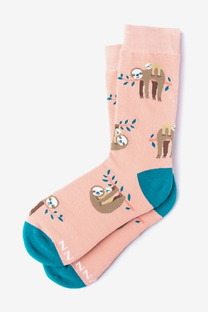 That Sloth Life Coral Women's Sock
