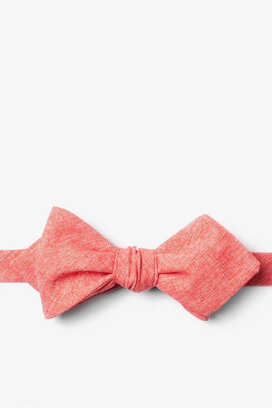 Denver Coral Diamond Tip Bow Tie Photo (0)