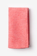 Coral Cotton Denver Pocket Square