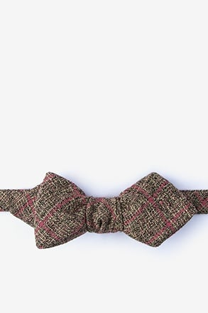 _Fletcher Coral Diamond Tip Bow Tie_