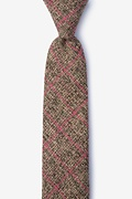 Coral Cotton Fletcher Skinny Tie