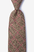 Coral Cotton Fletcher Tie