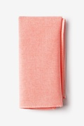 Coral Cotton Tioga Pocket Square