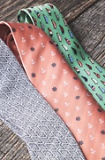 Anchors & Ships Wheels Coral Extra Long Tie Photo (1)