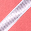 Coral Microfiber Jefferson Stripe Extra Long Tie