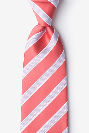_Jefferson Stripe Coral Tie_