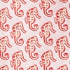 Coral Microfiber Seahorses Butterfly Bow Tie