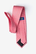 Small Anchors Coral Extra Long Tie Photo (1)