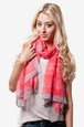 Coral Polyester Let's Be Neighbors Scarf
