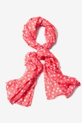 Starry Night Coral Scarf by Scarves.com